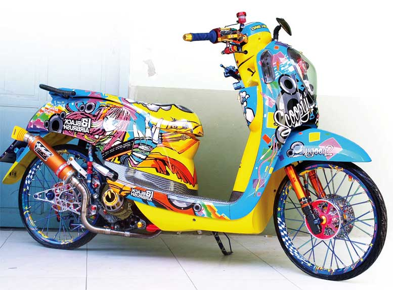 Gambar Kartun Motor Drag Scoopy Best Wallpapers Cloud