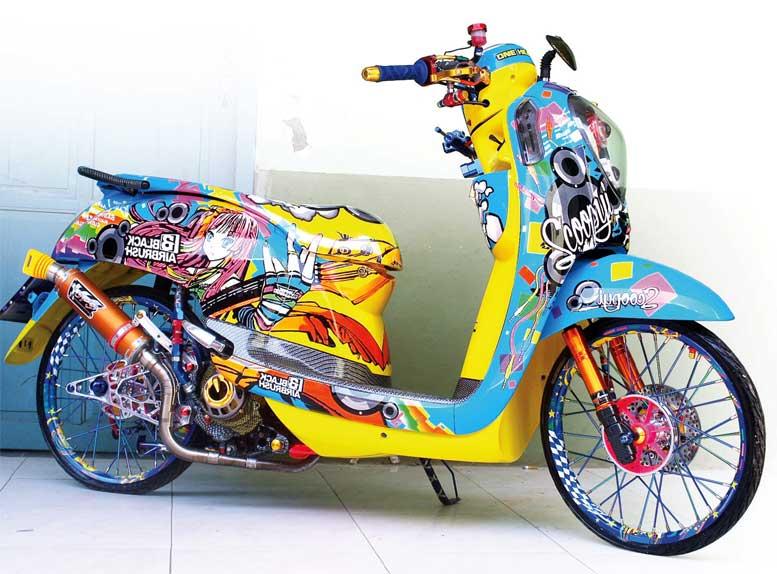 Honda Scoopy 14 Jepara Blackairbrush S Anime