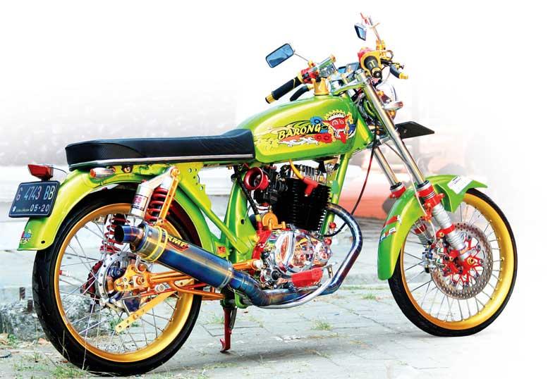 Honda Gl 100 82 Pekalongan Kepincut Era Modif