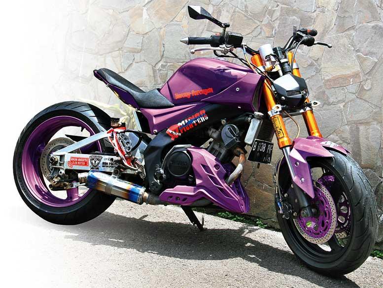 Yamaha V Ixion 09 Semarang Purple Street Fighter